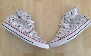 Scarpe-Converse-All-Star-Custom-Peanuts-Snoopy-artigianali-Made-in-Italy