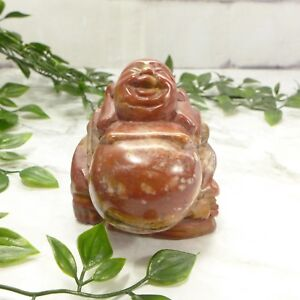 Vintage-China-Chinese-Natural-Zhoushan-Stone-Carved-Red-Buddha-Figure-3-034