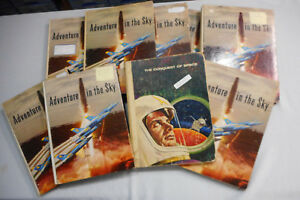 QQ-INCOMPLTE-1960s-NESTLES-ADVENTURE-IN-SKY-amp-CONQUEST-OF-OF-SPACE-BOOKS