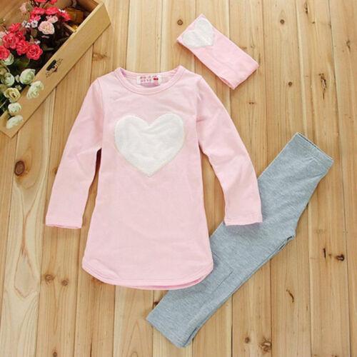 Kinder Baby Mädchen Trainingsanzug Sweatshirt Top Jogginganzug Hosen Outfit Set