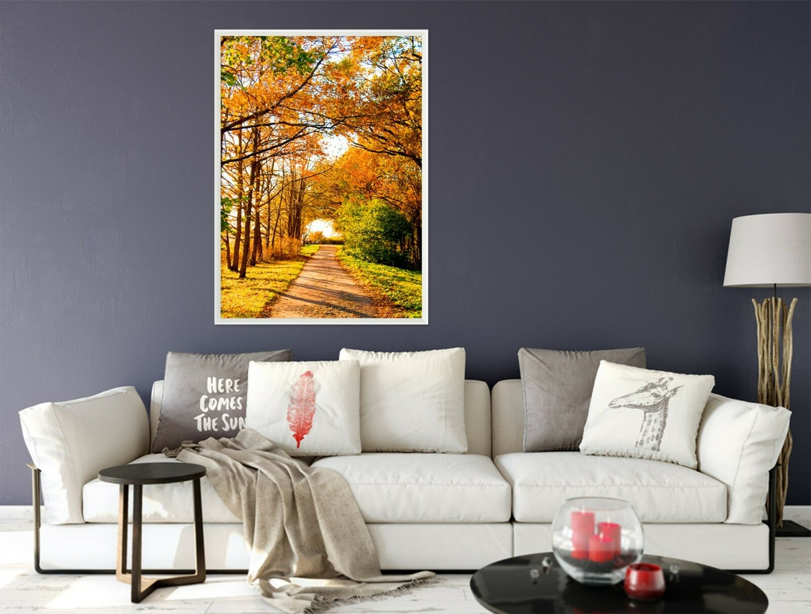 3D Maple Road 6 Framed Poster Home Decor Print Painting Art AJ AU