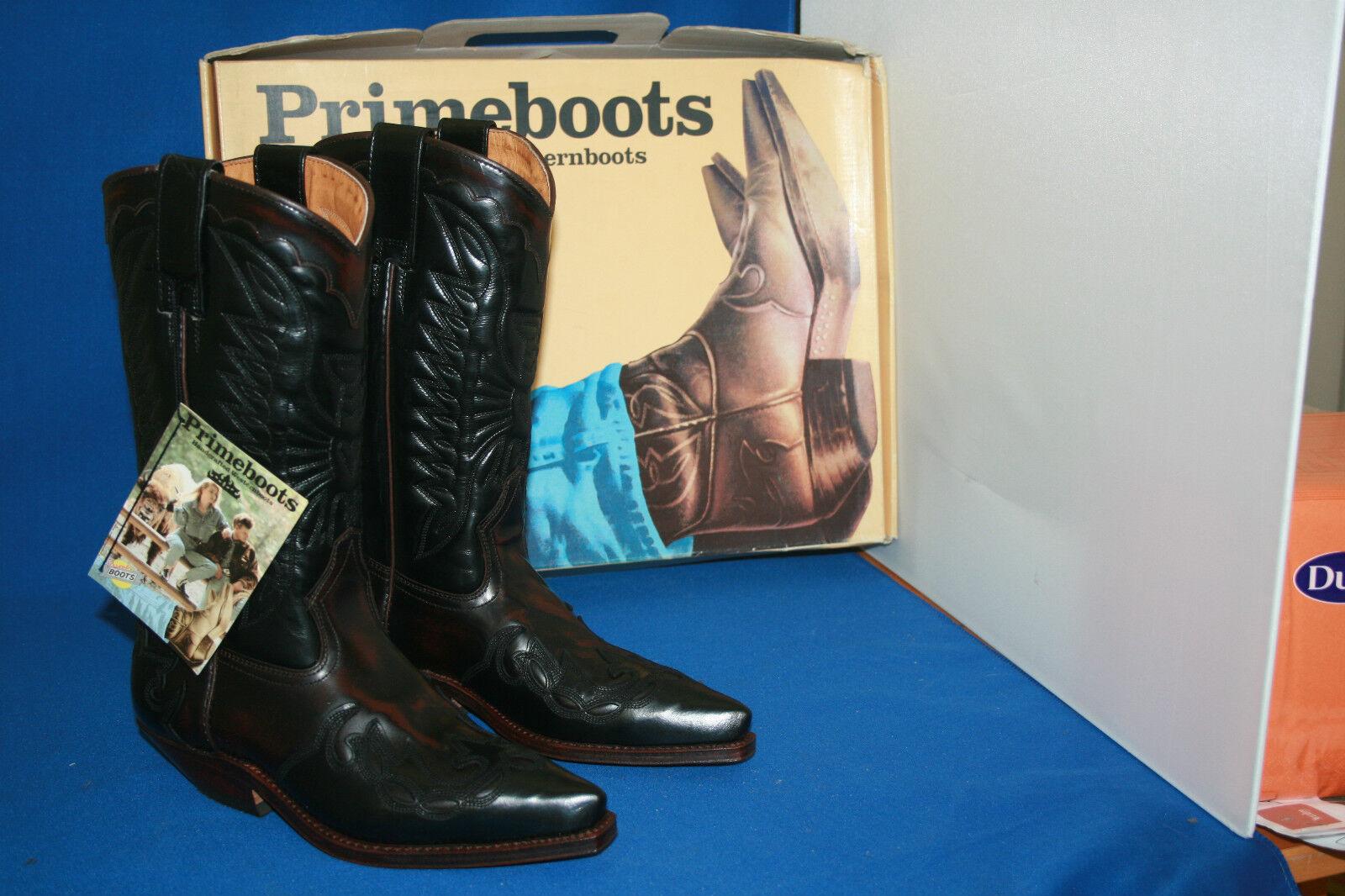 Prime Stiefel  cowboystiefel westernstiefel neu leder handmade  gr. 37