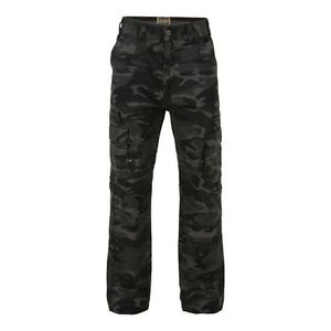 Mens-Big-Size-Large-Waist-Camoflauge-Combat-Cargo-Army-Style-Trousers-Pants