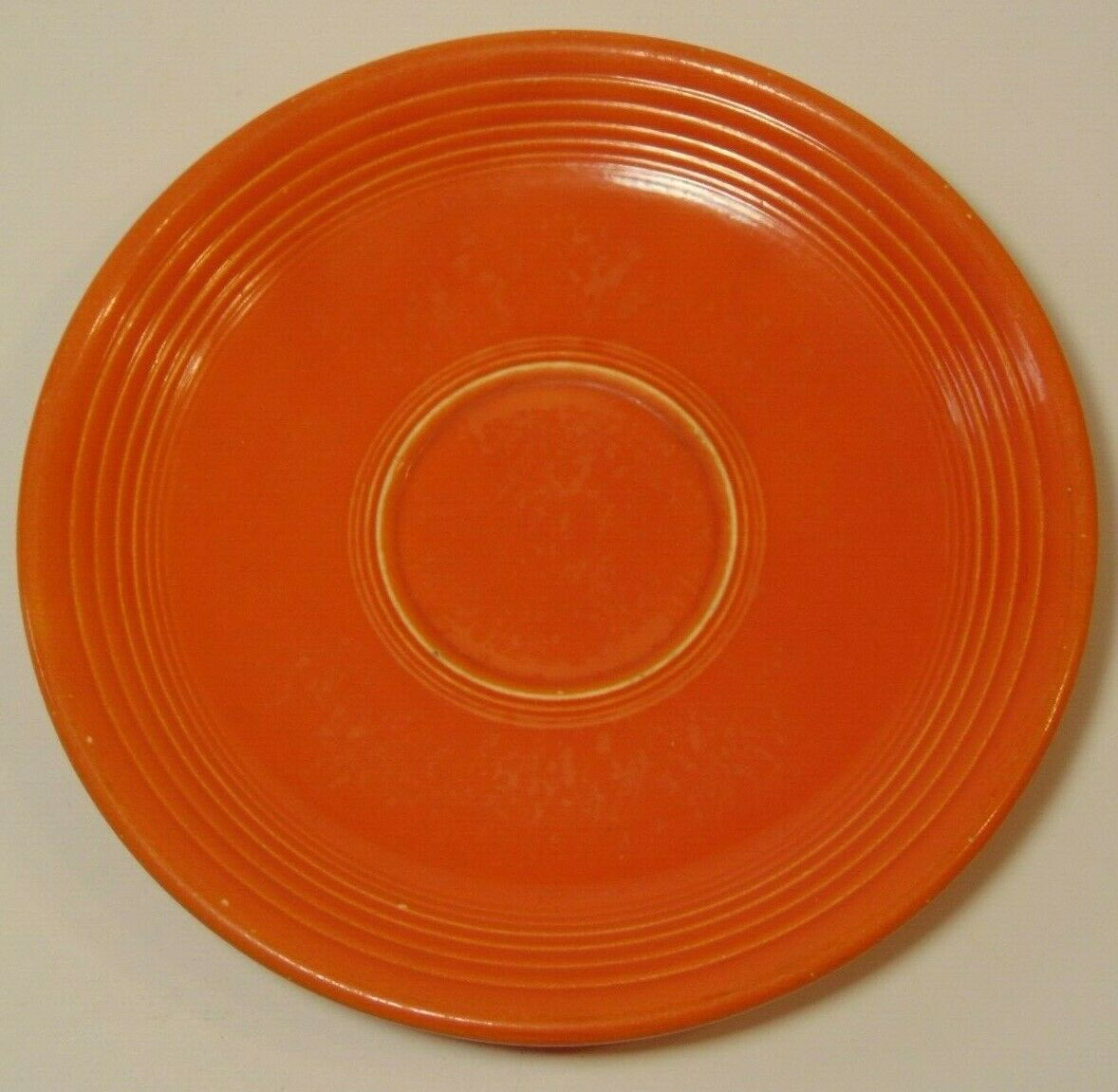 s l1600 - Antique 1936 RED ORANGE RADIOACTIVE FIESTA SAUCER PLATE GEIGER COUNTER READING Y