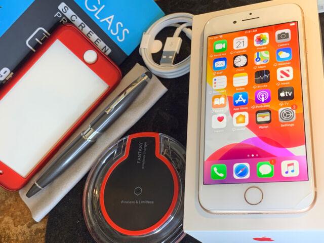 Apple iPhone 8 (64gb) Globally Unlocked (A1905) Gold/ ExTRAs {iOS13}84% LooK!