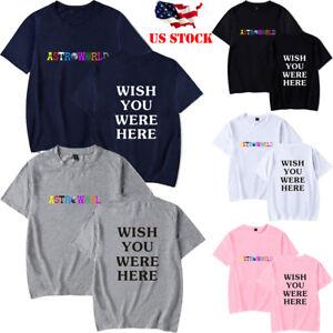 Unisex-Men-amp-Women-Travis-scott-astroworld-T-shirt-short-sleeve-Summer-Casual-Tops