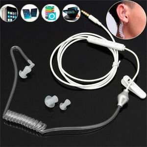 Mono-Single-Earphone-3-5mm-Port-Stereo-Acoustic-Hollow-Air-Tube-Wired-Earpiece