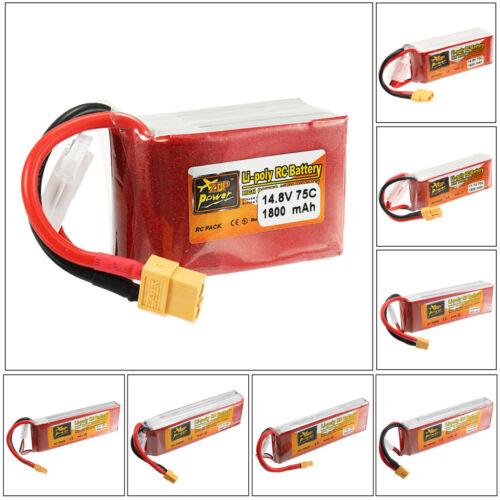 ZOP Power 7.4V-14.8V 1600mAh-6000mAh 2S-4S XT60 Lipo Batterie For Rc   ✔☆