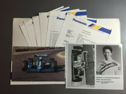 Awesome L@@K 1992 Panasonic /& Hiro Matsushita Indy Car Racing Press Kit RARE!