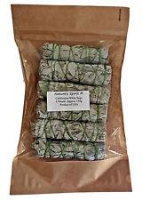 "White Sage Smudge Sticks 4-5"" Nature's Spirit Wands x 6 SIX Smudging Wicca Pagan"