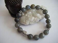 LABRADORITE Spiritual Stone/ECO/Stacking Bracelet/Protects/Healing/Buddha Tibet