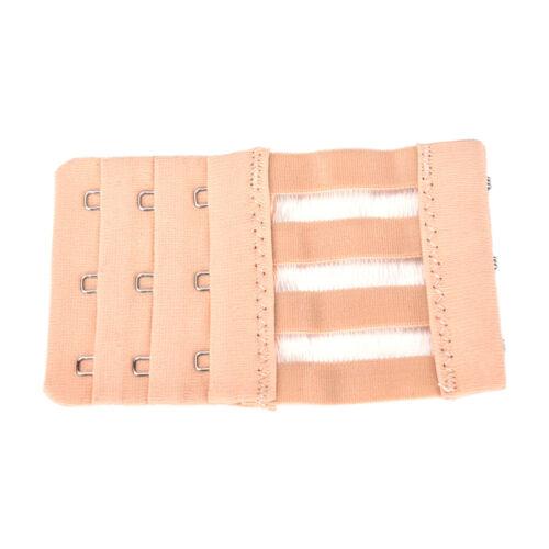 3Rows 3Hooks Women Good Quality Adjustable Bra Extender Strap Extension  H!P0SF
