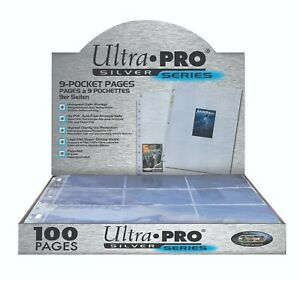 Ultra-Pro-Silver-9-Pocket-Pages-Full-Case-100-Pages