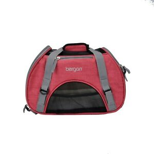 Bergan-Dog-Cat-Pet-Airline-Comfort-Carrier-Tote-with-Fleece-Bed-Small-Pink-Berry