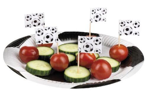 24 48 72 96 Fútbol Balonpié Bandera De Comida Sandwich selecciones Fiesta Decoraciones Copa del Mundo