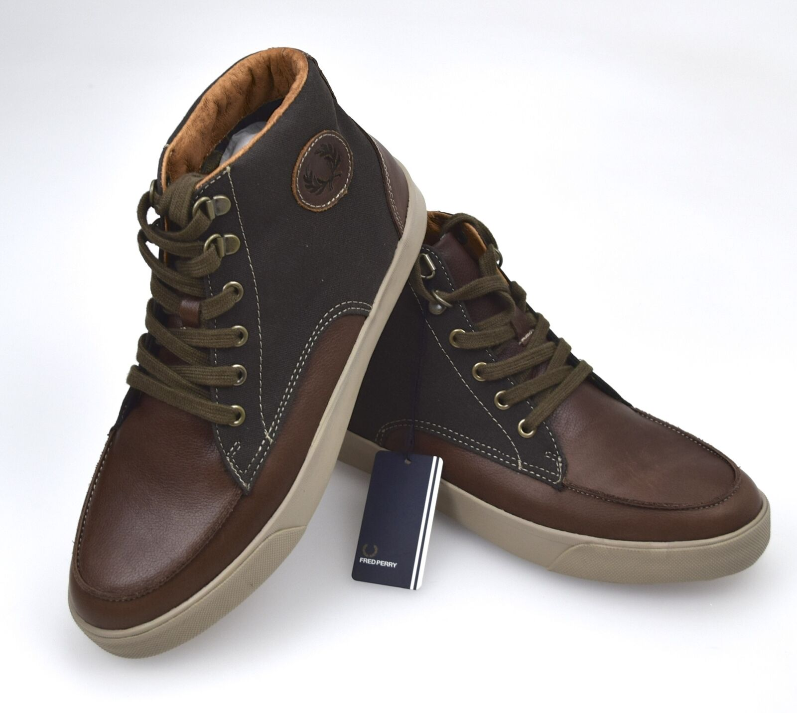 FRED PERRY MAN SNEAKER SHOES CASUAL FREE TIME LEATHER CODE B8107