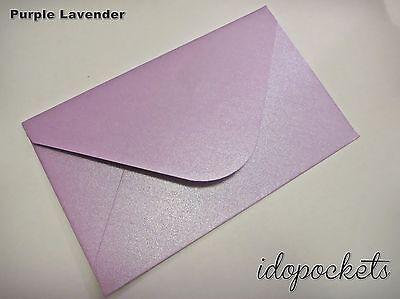 20 x PURPLE LAVENDER RSVP ENVELOPES 11B WEDDING CARD 145mm x 90mm SAVE THE DATES