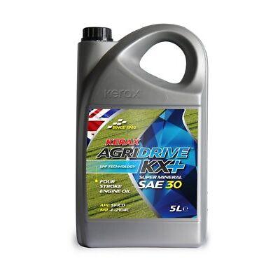 Kerax AgriDrive KX+ Mineral SAE 30 4 Stroke Engine Oil 5 Litre 5L