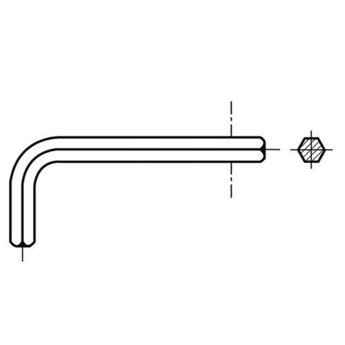 0.9mm Allen Hex Key Allan Key Steel heat Treated Black Hex Socket Key 000890