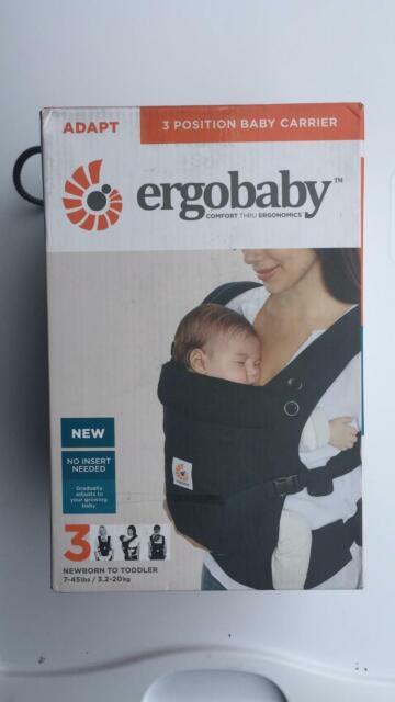 Ergobaby Adapt 3 Multi Position Newborn Baby Toddler Carrier in Black
