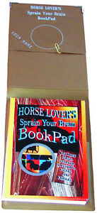 HORSE-NOTEBOOK-with-fun-questions-puns-etc-Your-name-printed-on-inner-cover