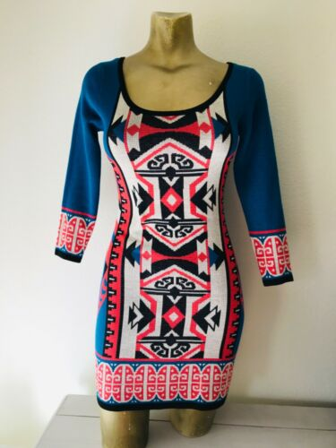 FLYING TOMATO Tribal Print Knit DRESS XS - image 1