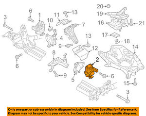 audi oem 12-16 a6 quattro-engine motor mount/torque strut 4g0199381le | ebay  ebay