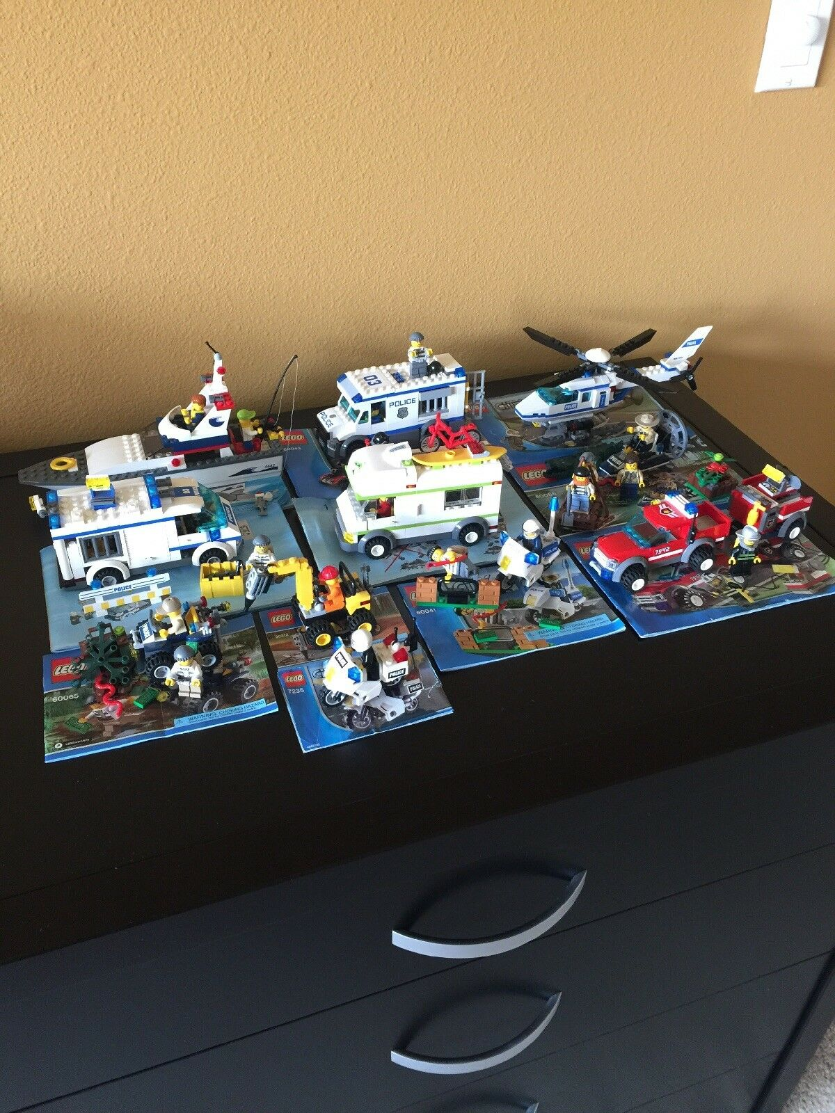 LEGO stad 4642, 6043, 7741, 6066, 7942, 6041, 30312, 6065, 7639, 7235, 7286