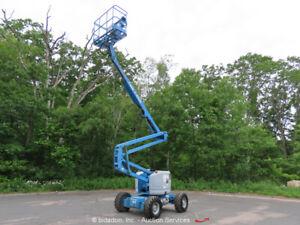 "Genie Z-45/25 45' 8"" 4WD Dual Fuel Articulating Boom Lift Man bidadoo"