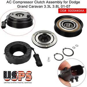 A//C AC Compressor Clutch Assembly fit for 01-07 Dodge Grand Caravan 3.3 /& 3.8L