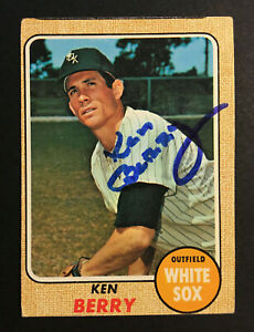 Ken Berry White Sox signed 1968 Topps baseball card #485 Auto Autograph