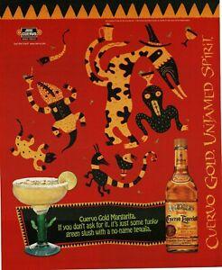 1996 JOSE CUERVO Especial Gold Tequila Untamed Spirit Vintage Print Ad