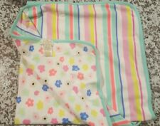 Orange//White Kate Spade Orangerie Baby Blanket