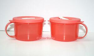 Tupperware CrystalWave Soup Mug 2 Cup Guava New