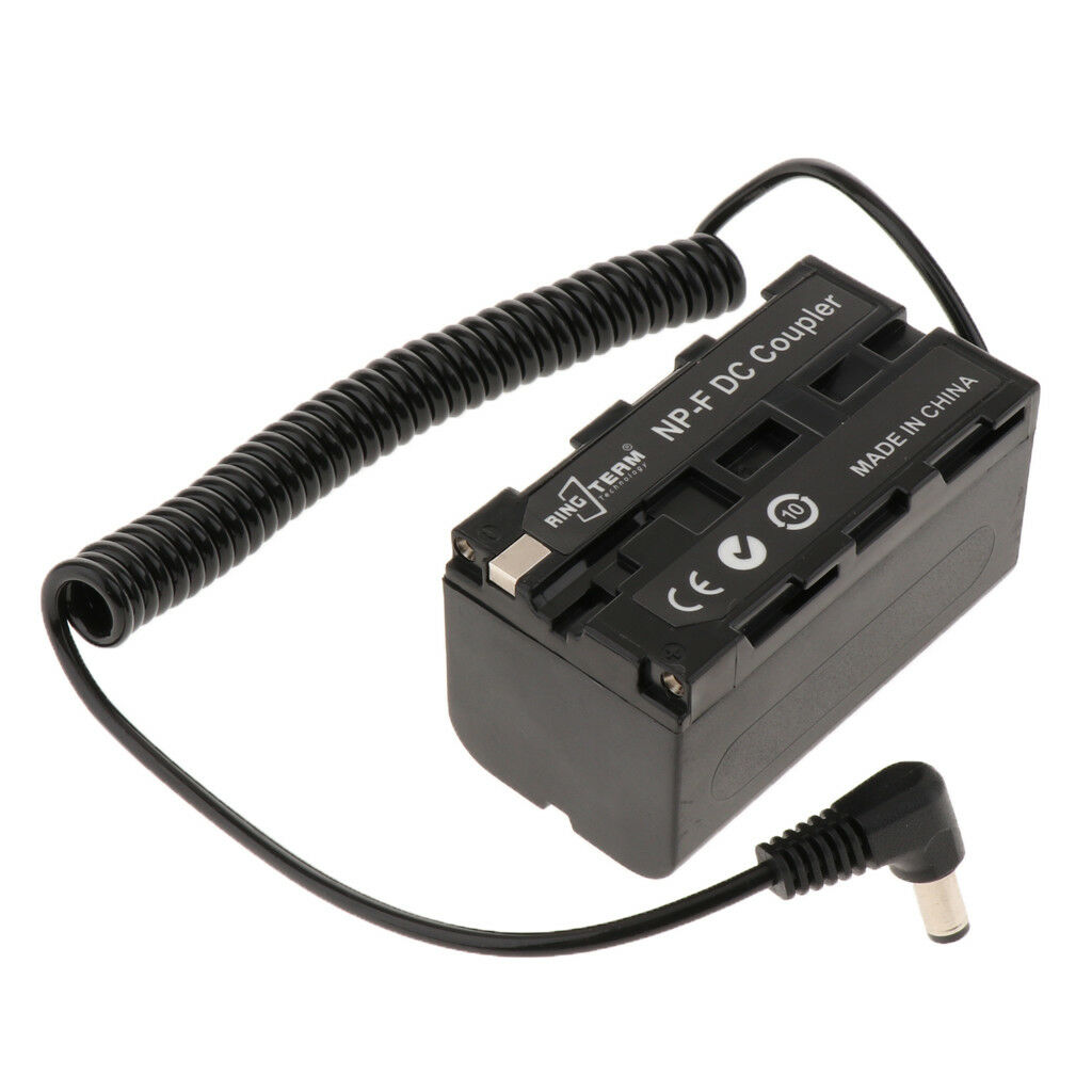 NP-F750 NP-F970 Dummy Battery DC Coupler for Camcorder and LED Panel Lights