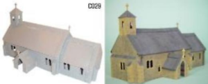 Dapol C029 Village Church Plastic Kit OO Gauge