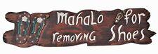 Deko Schild - TIKI - 100cm Mahalo for removing shoes Lounge oder Restaurant