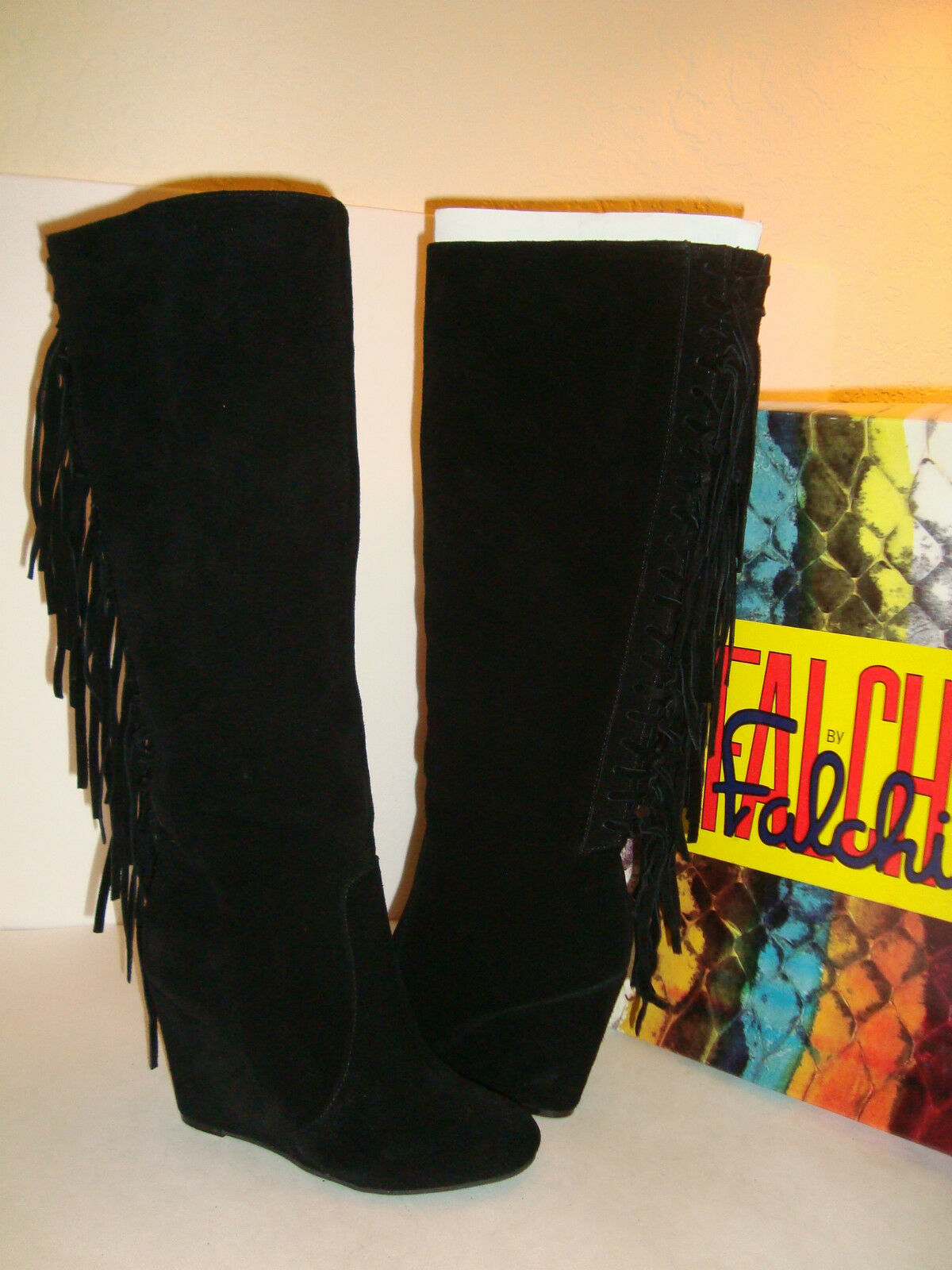 Falchi Womens NWB Z0055 Zoe Black Boots Shoes Size 5.5 MED NEW
