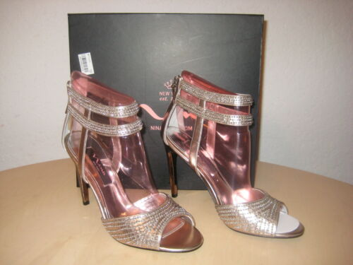 New Ouvert Talons Nina M Grain Cannes Chaussures Femmes Bout 716142016426 8 Champagne York 4TTvPd