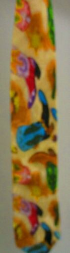 Carter & Holmes Tie, Yellow with Colorful Cowboy B
