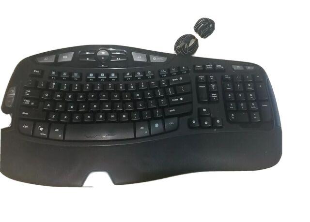 Logitech - K350 Wireless Wave Keyboard With Receiver - Black