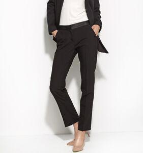 Pantalon-de-smoking-costume-Noir-femme-tailleur-NIFE-SD16-taille-38-40-42-44-46
