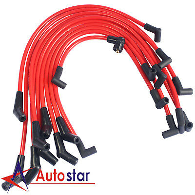 10.5 MM Red Racing Spark Plug Wire Kit Set For Mercury Lincoln Ford 5.0L 5.8L