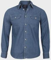 Quality New Mens Blue Denim Shirt New Dark Jean New = M L XL 2XL 3XL 4XL 5XL 6XL