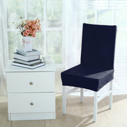 Stretch Plush Dining Chair Cover Parson Stool  Slipcover Home Decor for Party