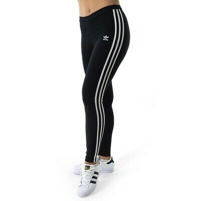 adidas 3 stripe leggings black