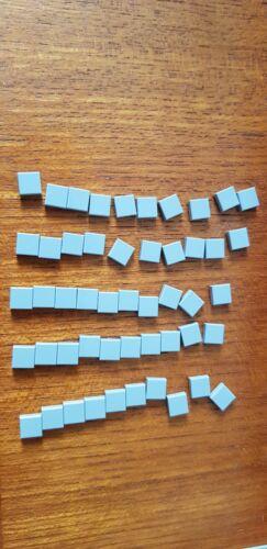 Ladrillos Lego 60 X Azulejos Plana Gris Claro 1 X 1 no 3070 Star Wars-Lote a granel de ciudad