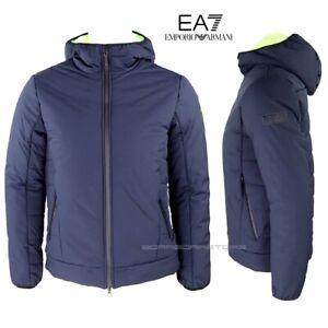Emporio-Armani-EA7-Giubbotto-uomo-6GPB27-blu-Giacca-con-cappuccio-inverno
