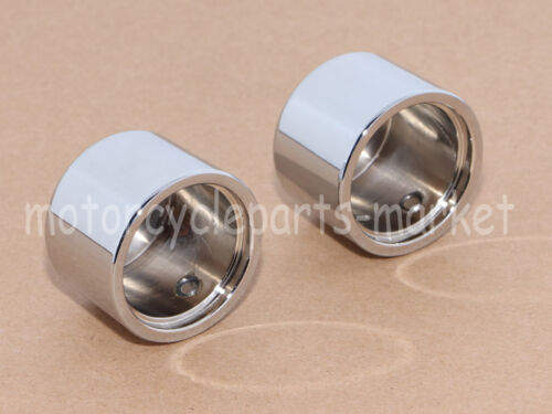 Chrome Front Axle Cover Cap Nut for Harley Dyna Softail Electra Street Glide New