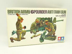 Tamiya-Maqueta-1-35-Militar-Army-British-6-Pounder-Anti-Tank-Tanque-Gun